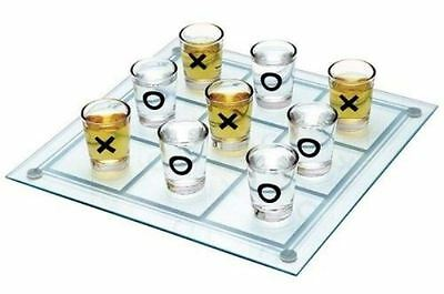 Drinking Tic Tac Toe Mini Drinking Party Game 9 Shot Glasses Novelty Gift
