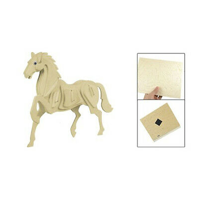 New Child Assembly 3D Wooden Horse Educational Toy Woodcraft Construction Kit DM