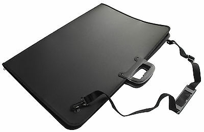 A3 Art Folder Case Black - Portfolio - Waterproof - Carry Handle