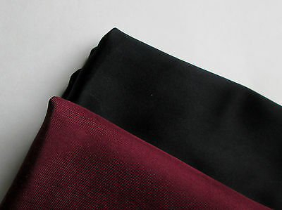 Tristan sold black pocket squares , and a solid burgundy  handkerchief