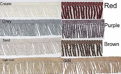 "Twisted Rope Tassel Trim 8 CM 3"" Bullion Fringe 1/2 Mtr Available 8 Colours #1"