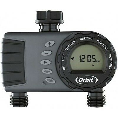 Orbit 1 Dial 2 Outlet Automatic Tap Timer - Dual Outlet Irrigation Controller