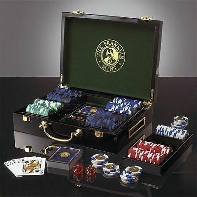 Franklin Mint Clay Poker Chip SET ALL SEALED BRAND NEW IN BOX & COA