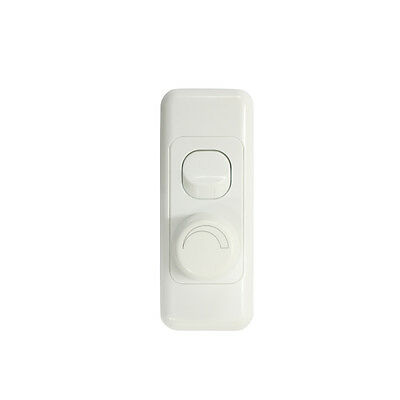 2 Gang Architrave Wall Plate with Switch & LED Light Dimmer SAA - Trailing Edge