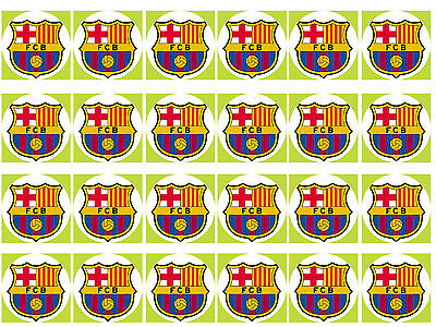 Barcelona Round Cupcake Edible Icing Party Cake Topper Decoration Image Custom