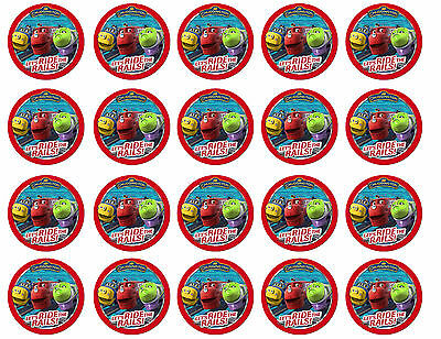 Chuggington Cupcake Edible Icing Party Cake Topper Decoration Image Custom