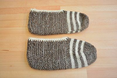 Handmade Knitted Wool Slippers / socks   9 inch