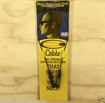 "Cablz Sunglasses Reading Glasses Holder Original Eyewear Retainer 12"" Black"
