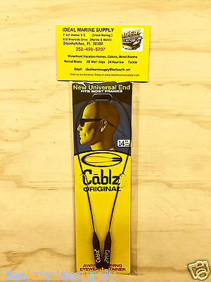 "Cablz Sunglasses Reading Glasses Holder Original Eyewear Retainer 14"" Black"