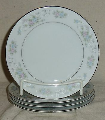 "Carlton Corsage #481 Four Bread & Butter Plates (6 1/4"")"