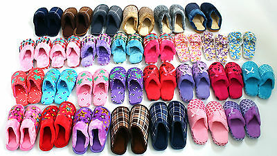New Unisex Bedroom Slippers Sandals Mules Wholesale Joblot Mix Sizes 100 Pairs