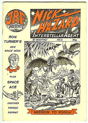 Nick Hazard #3 (UK fanzine, 1986) new Ron Turner SF strip + Space Ace reprint