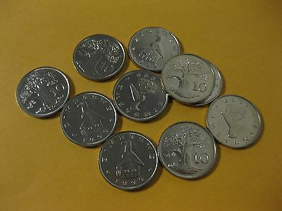 1999 Zimbabwe Coin group BAOBAB TREE  neat Tree coin 10 pc unc coins jewelry lot