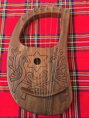 Lyre Harp 8 Strings with Tunning Key Free Carrying Case/Lyra harp