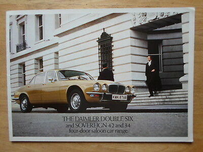 DAIMLER DOUBLE SIX V12 & SOVEREIGN Saloons orig 1977 UK Mkt Sales Brochure
