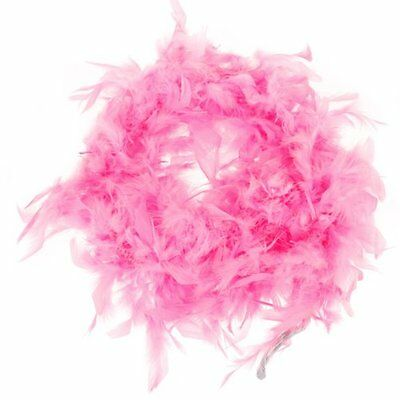 S3 2m Feather Boas Fluffy Craft Costume Dressup Wedding Party Home Decor (Pink)