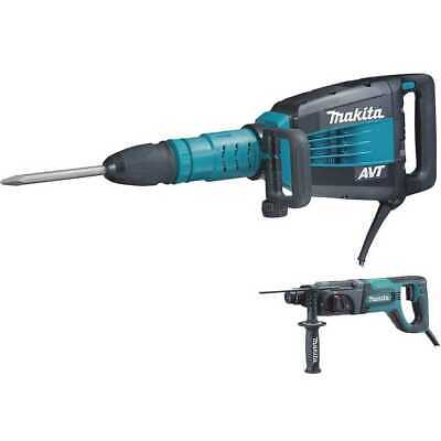 "Makita 27 lb Demo Hammer & SDS-Plus HR2475 1"" Rotary-Hammer HM1214CX New"