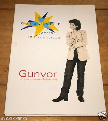 Gunvor Lass Ihn ~ Eurovision Song Contest Promotional Promo Press Pack 1998