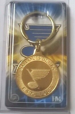 St Louis Blues NHL Bronze Coin Logo Key Ring
