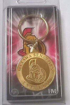 Ottawa Senators NHL Bronze Coin Logo Key Ring