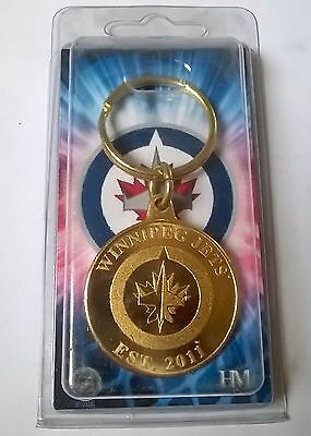 Winnipeg Jets NHL Bronze Coin Logo Key Ring