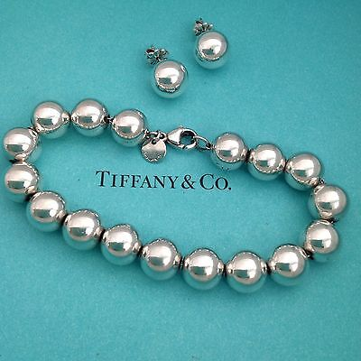 Tiffany Bead Set Bracelet Earrings  Authentic. Excellent Condition