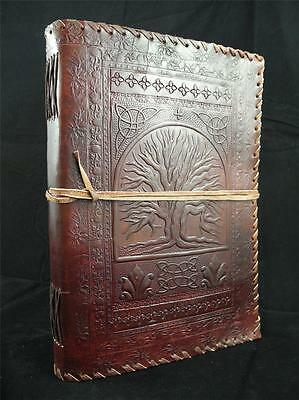 TREE of LIFE A4 Handmade Leather Journal Sketchbook - Pages Cartridge Art Paper
