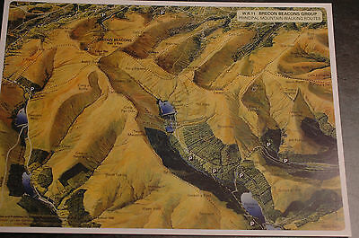3D Aerial Panoramic A4 Fell Walking Map of Brecon Beacons No11 Unusual Gift Idea