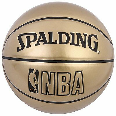 SPALDING JAPAN Basketball NBA UNDERGLASS Size:7 Gold 74-487Z