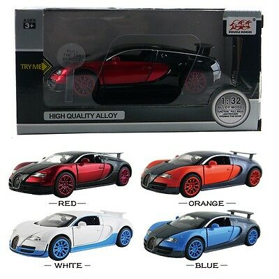 1PC 1:32 Bugatti Veyron DieCast Model Car Kid Pull Back Friction Vehicle Toy LED
