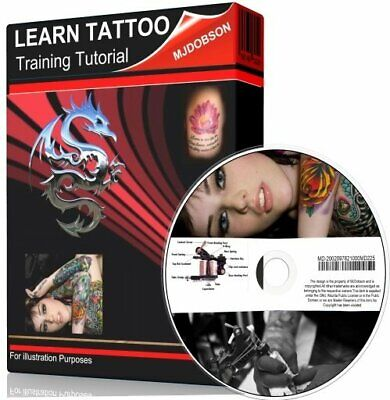 Learn to Tattoo like a professional Dvd video training tutorial  ✅