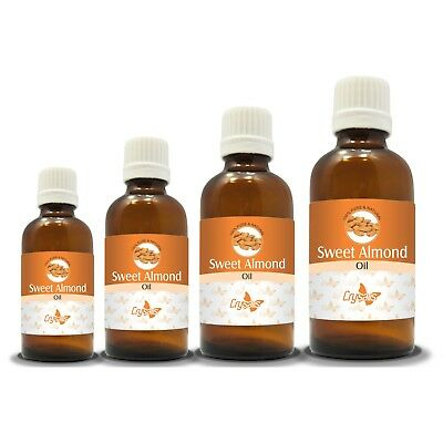100% NATURAL SWEET ALMOND CARRIER OIL (Aromatherapy) from 15ML to 1000ML