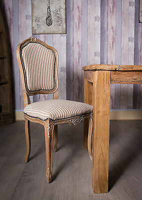 French Louis Side Chair Oak Limed Dining Shabby Chic Bedroom Antique Dressing