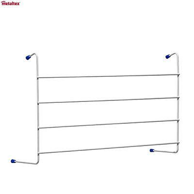 Metaltex 4 Bar Radiator Airer Windsor 2.4 M Laundry Clothes Line Drier Home New