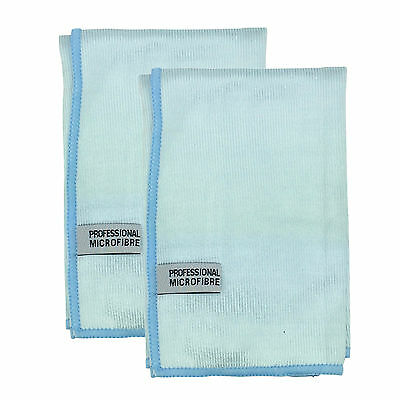 2 x Martin Cox Professional Silky Microfibre Glass Mirror Cleaning Polish Cloth