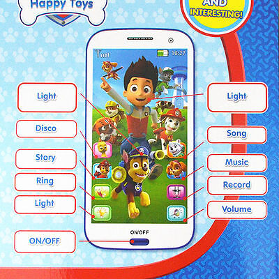 Cute Kids Children Baby PAW PATROL Figures Educational Learning Mobile Phone Toy