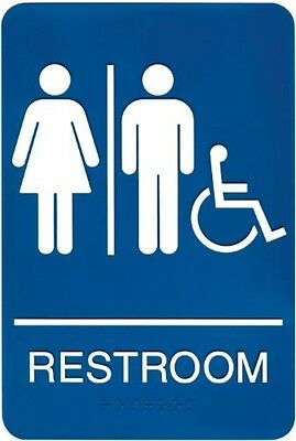 Headline Sign 8377 ADA Wheelchair Accessible Restroom Sign With Tactile 6 By 9
