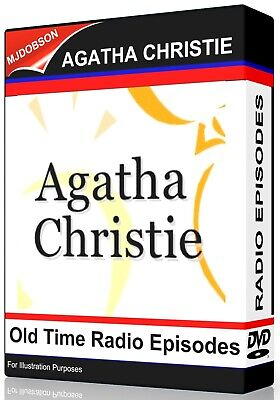 (MD178) Agatha Christie Collection 50 OTR Old Time Radio Episodes Audio MP3 DVD