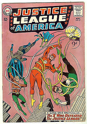 Justice League of America #27 (1964 fn-vf 5.5) guide value: $80.00 (£54.00)