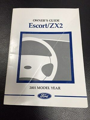 2001 original ford escort zx2 owners manual service guide book 01 rh picclick com 2001 Ford ZX2 Problems 2001 ford escort zx2 repair manual pdf