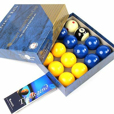 EXCLUSIVE! Super Aramith BLUE and YELLOW PRO CUP 2Inch Pool Balls