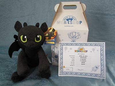 1St Edition How To Train Your Dragon Toothless Build A Bear W/ Box & Cert Nwt!