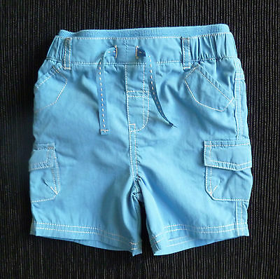 Baby clothes BOY 9-12m TU mid-blue cotton shorts pockets SEE SHOP COMBINE POST!