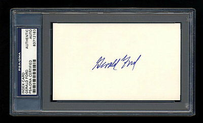 President Gerald Ford Signed Index Card Mint Psa/dna Slabbed Autograph