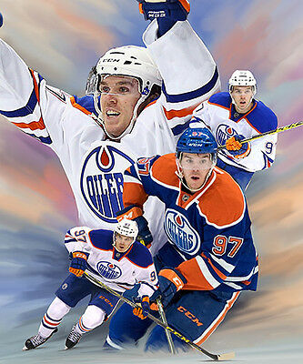 Connor Mcdavid : giclee print on canvas poster painting for autograph  B-2870