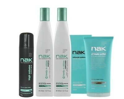NAK Body.n.Shine Shampoo & Conditioner + Ultimate Potion and High Volume Pack
