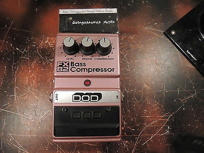 Dod Fx82 Bass Compressor Effects Pedal Free Usa Shipping