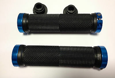 manopole per moto d'acqua nere blu handle bar grips double look for jet-ski