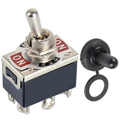 1PCS 6-pin Black DPDT DC Moto Reverse ON/OFF/ON Toggle Switch & Switch Cap H6TG