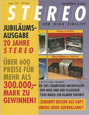 Stereo 1/1994 Zeitschrift Magazin Audio Stereoplay